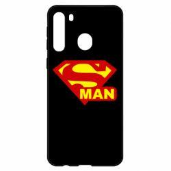 Чехол для Samsung A21 Super Man