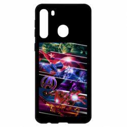 Чехол для Samsung A21 Super power avengers
