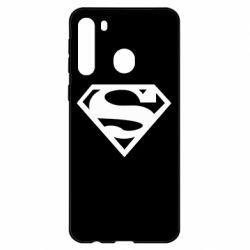 Чехол для Samsung A21 Superman одноцветный