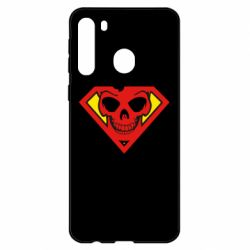 Чехол для Samsung A21 Superman Skull