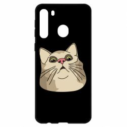 Чехол для Samsung A21 Surprised cat