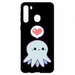 Чехол для Samsung A21 Sweet Octopus