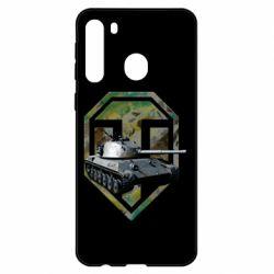 Чехол для Samsung A21 Tank and WOT game logo