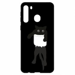 Чехол для Samsung A21 The cat tore the pocket