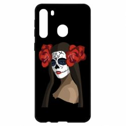 Чехол для Samsung A21 The girl in the image of the day of the dead