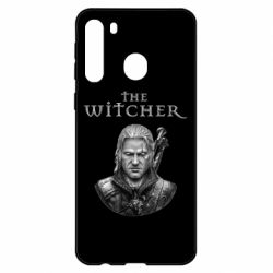 Чехол для Samsung A21 The witcher art black and gray