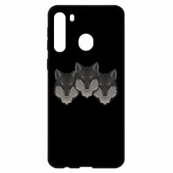Чехол для Samsung A21 Three wolf heads