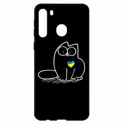 Чехол для Samsung A21 Типовий український кіт