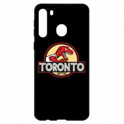 Чехол для Samsung A21 Toronto raptors park