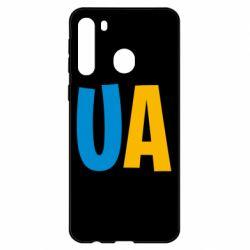 Чехол для Samsung A21 UA Blue and yellow