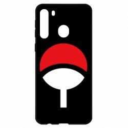 Чехол для Samsung A21 Uchiha symbol