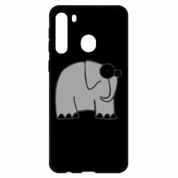 Чехол для Samsung A21 удивленный слон