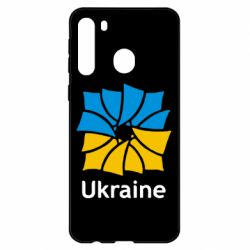 Чехол для Samsung A21 Ukraine квадратний прапор