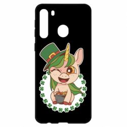 Чехол для Samsung A21 Unicorn patrick day