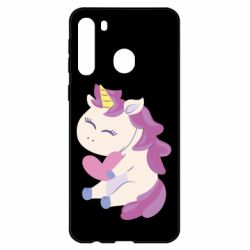 Чехол для Samsung A21 Unicorn with love