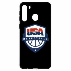Чехол для Samsung A21 USA basketball