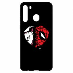 Чехол для Samsung A21 Venom and spiderman