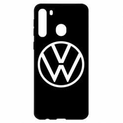 Чехол для Samsung A21 Volkswagen new logo