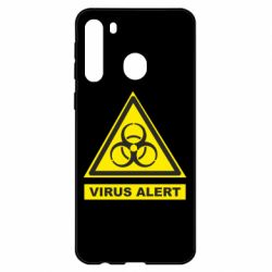 Чехол для Samsung A21 Warning Virus alers