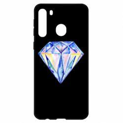 Чехол для Samsung A21 Watercolor diamond