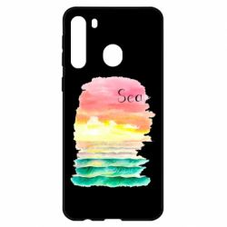 Чехол для Samsung A21 Watercolor pattern with sea