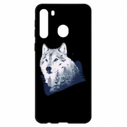 Чехол для Samsung A21 Wolf and forest