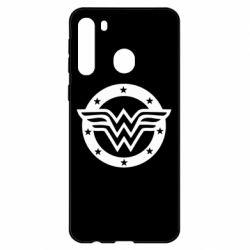 Чехол для Samsung A21 Wonder woman logo and stars