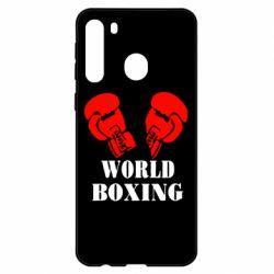 Чехол для Samsung A21 World Boxing