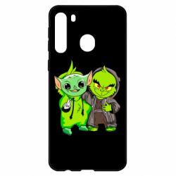 Чехол для Samsung A21 Yoda and Grinch