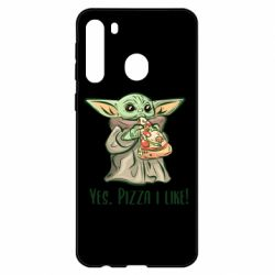 Чехол для Samsung A21 Yoda and pizza
