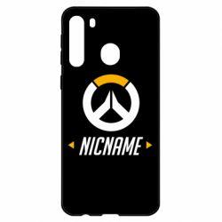 Чехол для Samsung A21 Your Nickname Overwatch