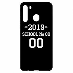 Чехол для Samsung A21 Your School number and class number