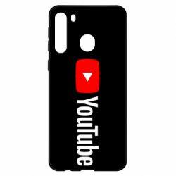 Чехол для Samsung A21 Youtube logotype