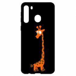 Чехол для Samsung A21 Жираф