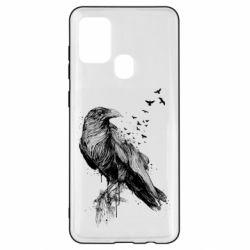 Чохол для Samsung A21s A pack of ravens