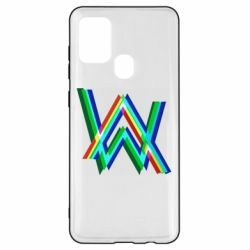 Чехол для Samsung A21s Alan Walker multicolored logo