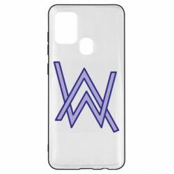 Чехол для Samsung A21s Alan Walker neon logo