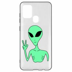 Чехол для Samsung A21s Alien and two fingers