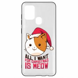 Чехол для Samsung A21s All i want for christmas is meow