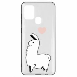 Чохол для Samsung A21s Alpaca with a heart