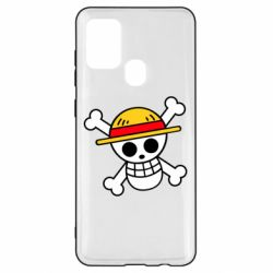 Чохол для Samsung A21s Anime logo One Piece skull pirate