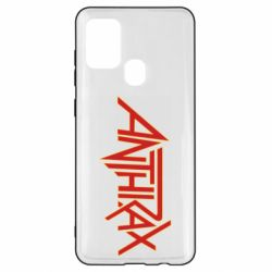 Чохол для Samsung A21s Anthrax red logo