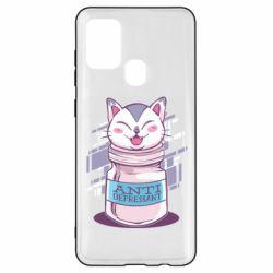 Чехол для Samsung A21s AntiDepressant Cat