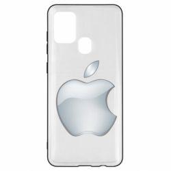 Чохол для Samsung A21s Apple Silver