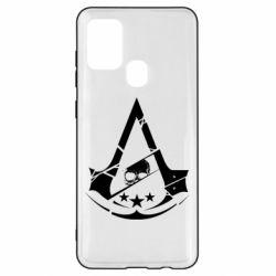 Чехол для Samsung A21s Assassin's Creed and skull 1