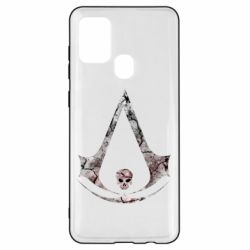 Чехол для Samsung A21s Assassins Creed and skull