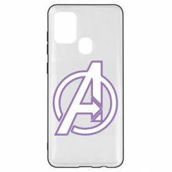 Чехол для Samsung A21s Avengers and simple logo