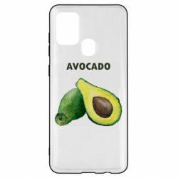 Чехол для Samsung A21s Avocado watercolor
