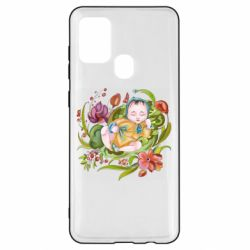 Чехол для Samsung A21s Baby and flowers