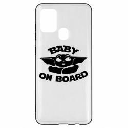Чехол для Samsung A21s Baby on board yoda